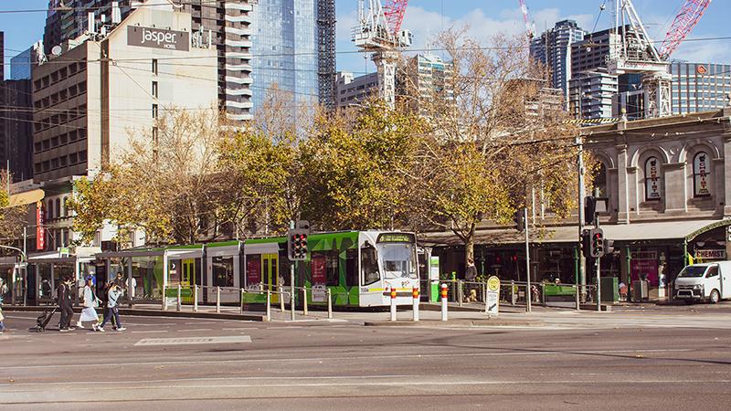 Melbourne tram scene