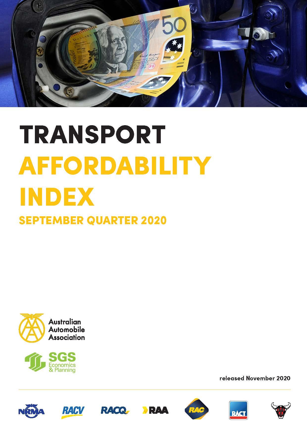 Cover - Transport Affordability Index Q3 2020